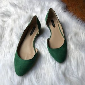 Emerald Green Zara Badic D'Orsay Pointed Flats